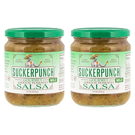Amazon.com : SuckerPunch Gourmet - Green Tomato Salsa, Fresh Taste, Gluten Free, Vegan Friendly, Kosher and Made In the USA (Mild, 16 Ounce, ...