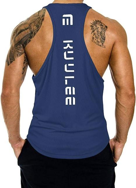 Fitness Herren Muskel Ärmellos Tank Top T-Shirt Bodybuilding Sport Fitness Weste