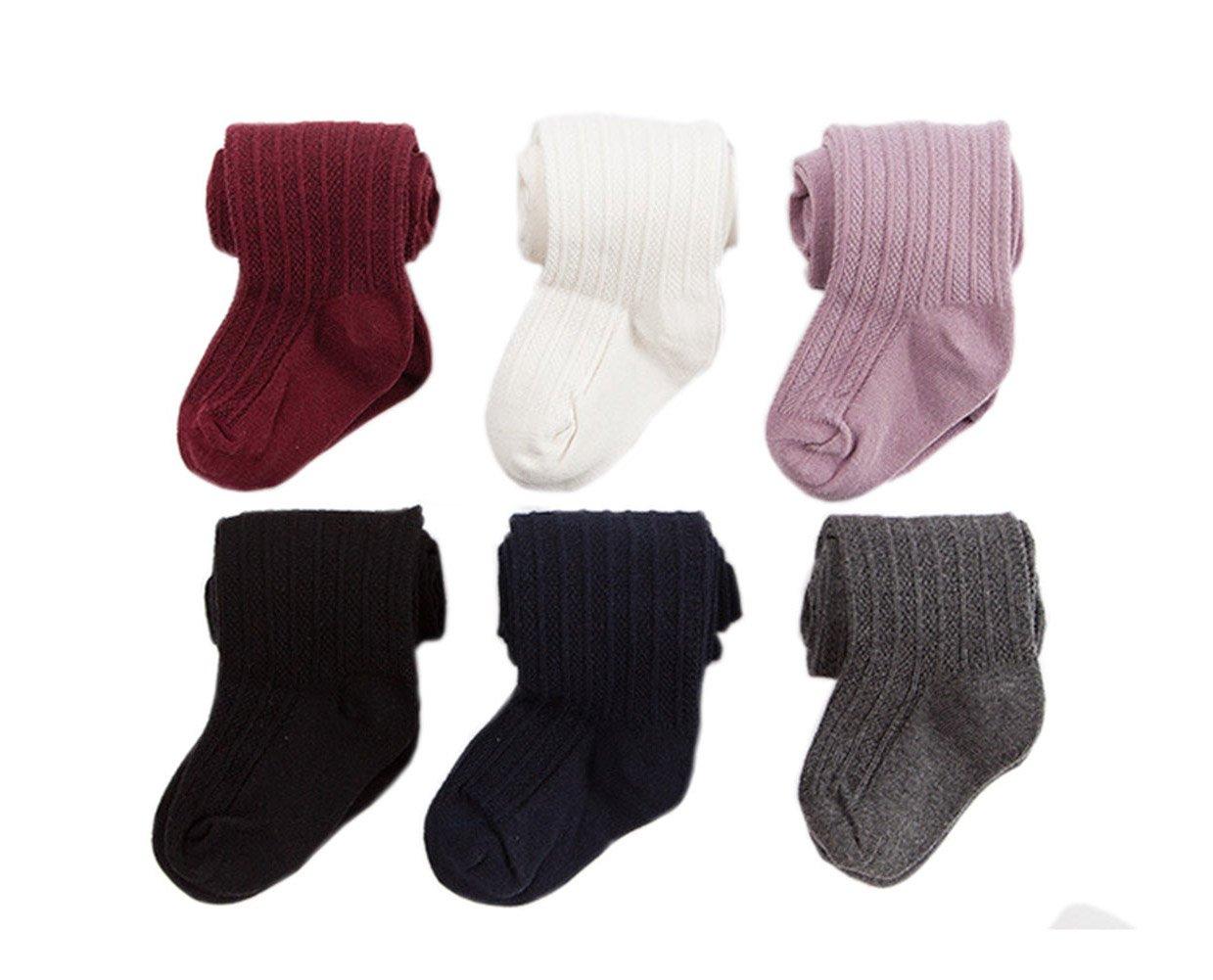 Taiycyxgan Baby Kid Girls Winter Tights Cable Knit Tights 6 Pack Leggings Stocking Pants 6-12M by TAIYCYXGAN
