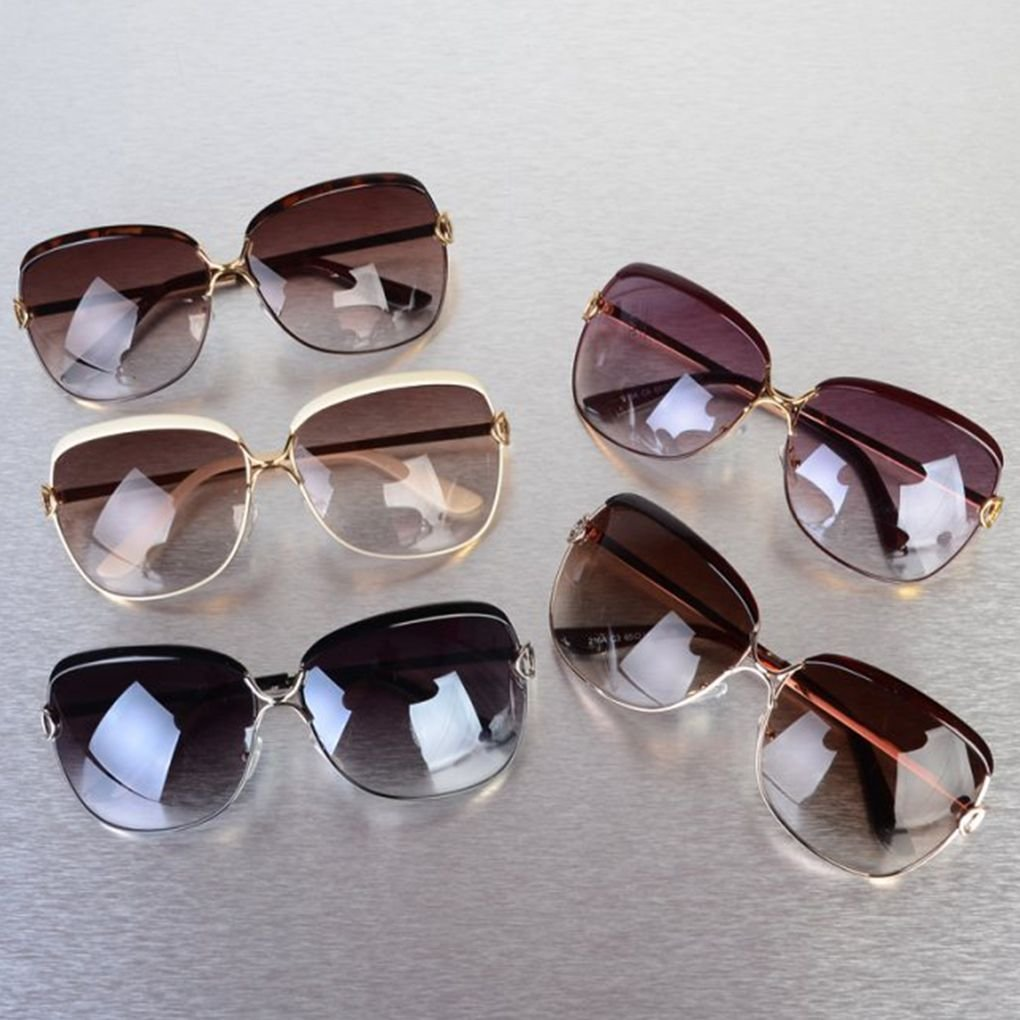 lidahaotin Quadratische Frauen-M/ädchen-UV400 Schutz Sonnenbrillen Brillen-Harz-Objektiv-Metallrahmen-Gl/äser Retro Mode Brillen