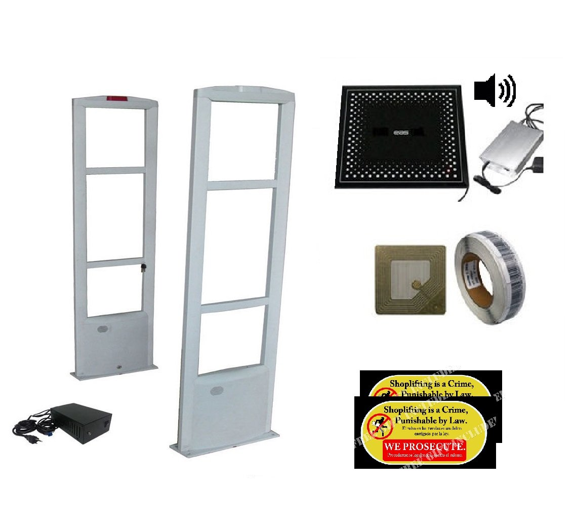 Best Value Starter Sound COMBO - Checkpoint Compatible RF Anti Theft Security Antenna +, 2000 Soft Labels + Deactivator