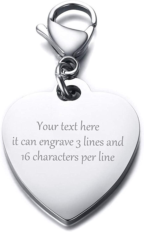 VNOX Personnalis/é Grav/é Photo Calendrier Date Grav/é Message en Acier Inoxydable Porte-cl/és et Porte-cl/és Souvenir Anniversaire Cadeau de Mariage