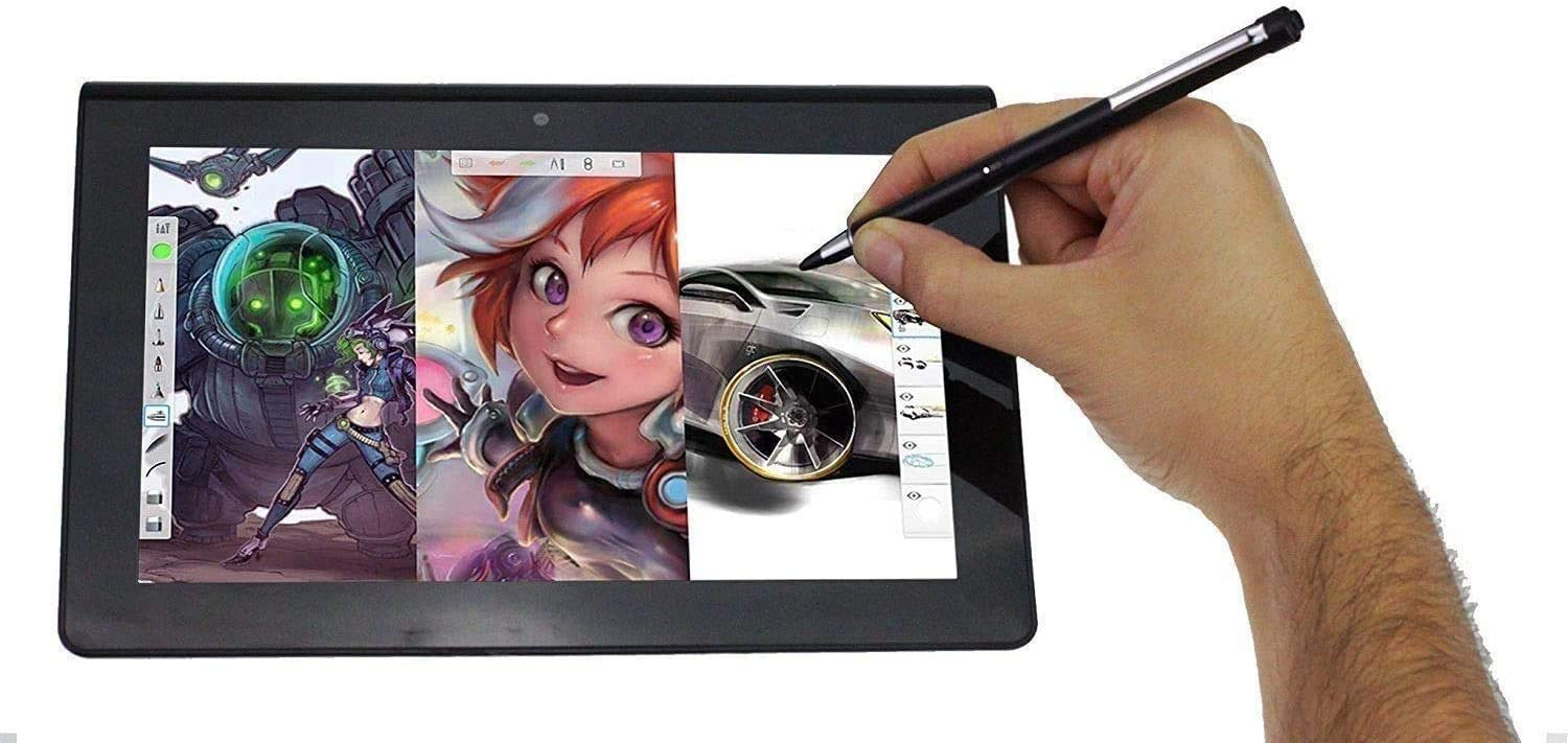 Compatible with The/BLU Studio View Broonel Midnight Black Rechargeable Fine Point Digital Stylus