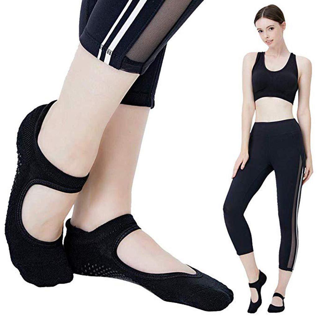Ballet Non Skid Socks for Women Non Slip Grip Yoga Socks Sports Socks Exercise Gym Socks for Dance (C)
