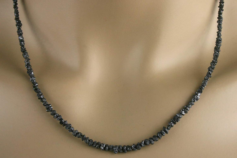 in schwarz Collier Rohdiamant Kette 32ct.