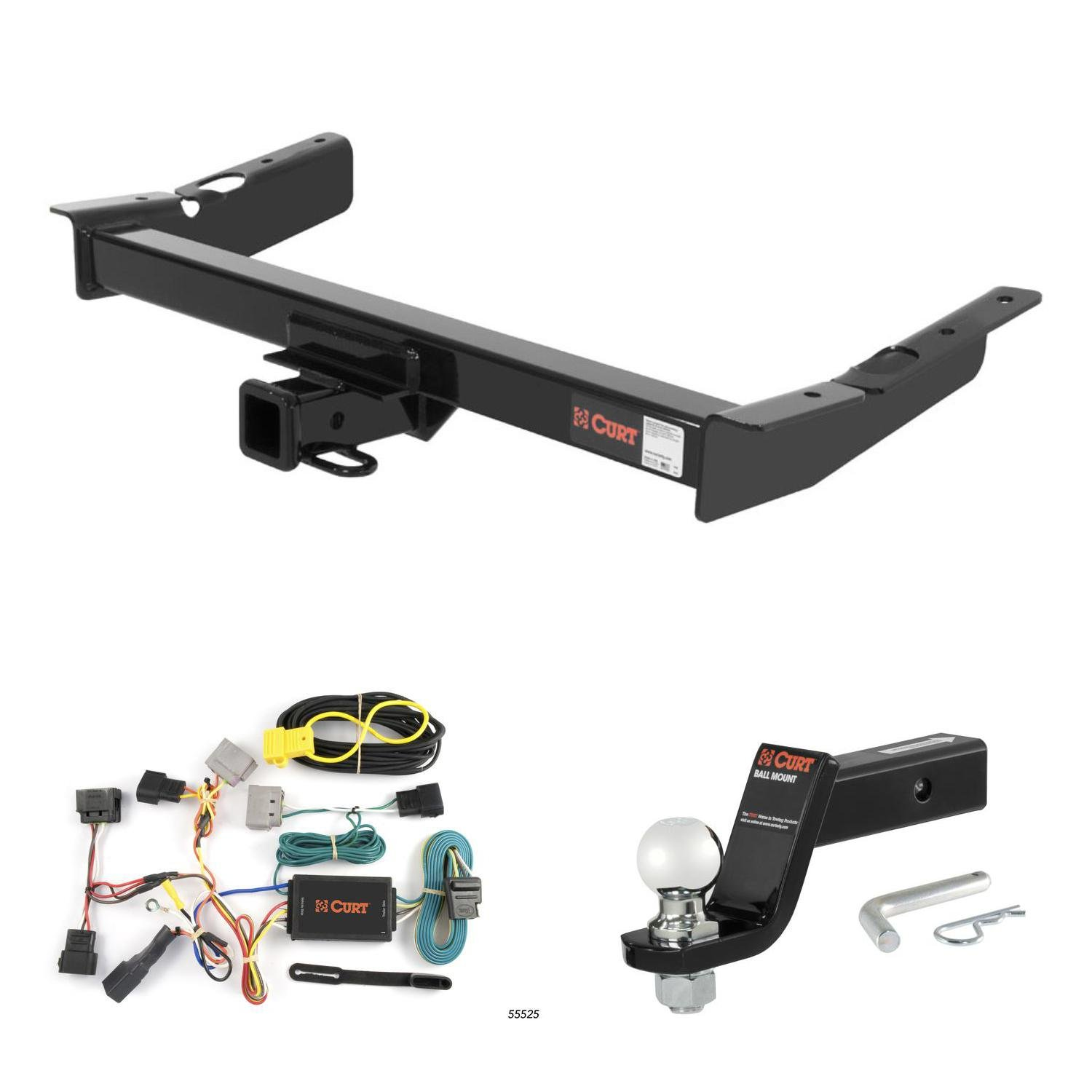 Curt Trailer Hitch Wiring 2 5 16 Ball Mount W 4 2003 Windstar Drop For 03 Ford Automotive