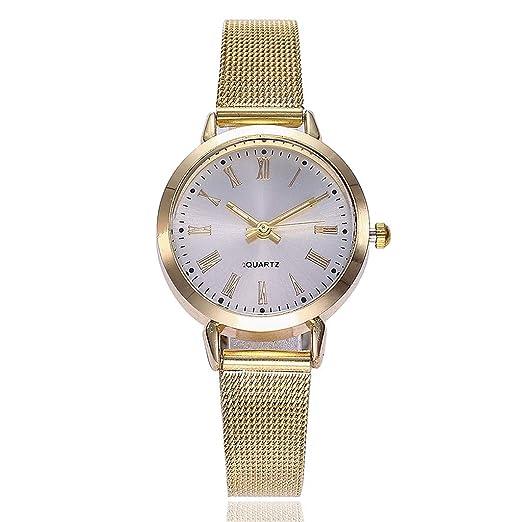 BBestseller Reloj para Mujer, Reloj de Cuarzo, Impermeable Retro Relojes de Pulsera Cinturón de