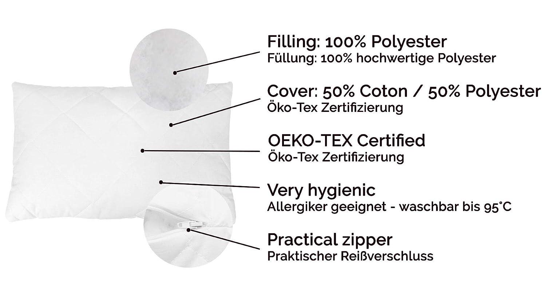 ZOLLNER 2 Rellenos de cojin 40x60 cm con Cremallera, 320 g/Unidad, Otras Medidas: Amazon.es: Hogar