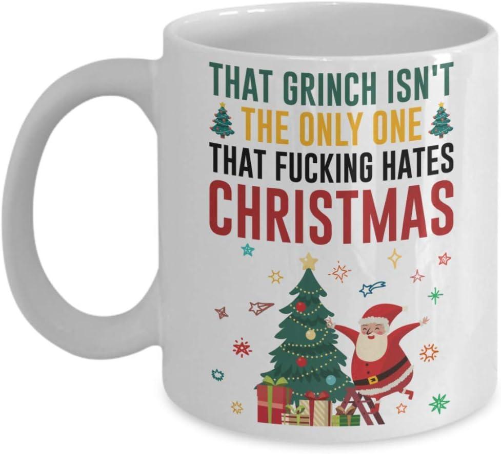 Funny Christmas Season Memes That Grinch Isn T The Only One That Fucking Hates Christmas Christmas Coffee Mug Holiday Mug Christmas Movie Mug Gi Amazon Co Uk Kitchen Home