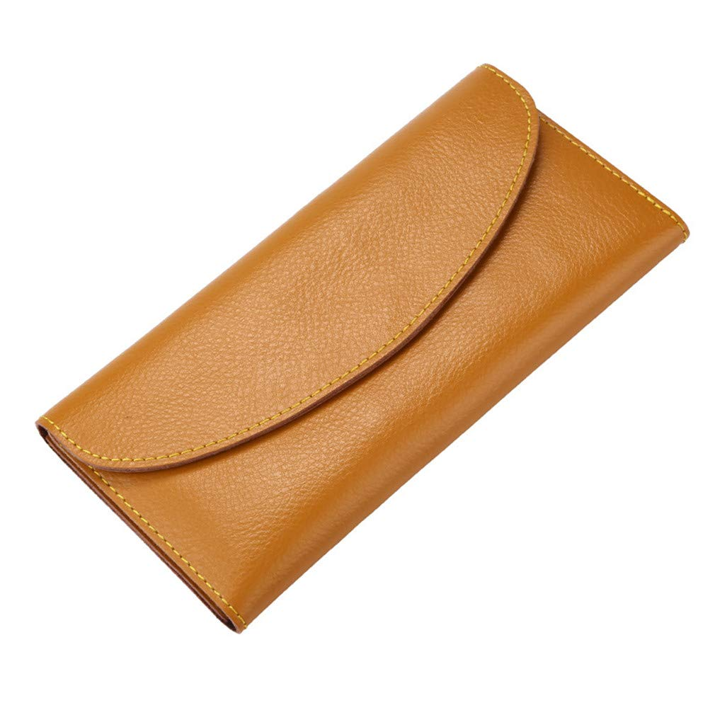 Genuine Leather Ladies Soft Long Purse Womens Clutch Hasp Wallets With Card Holder