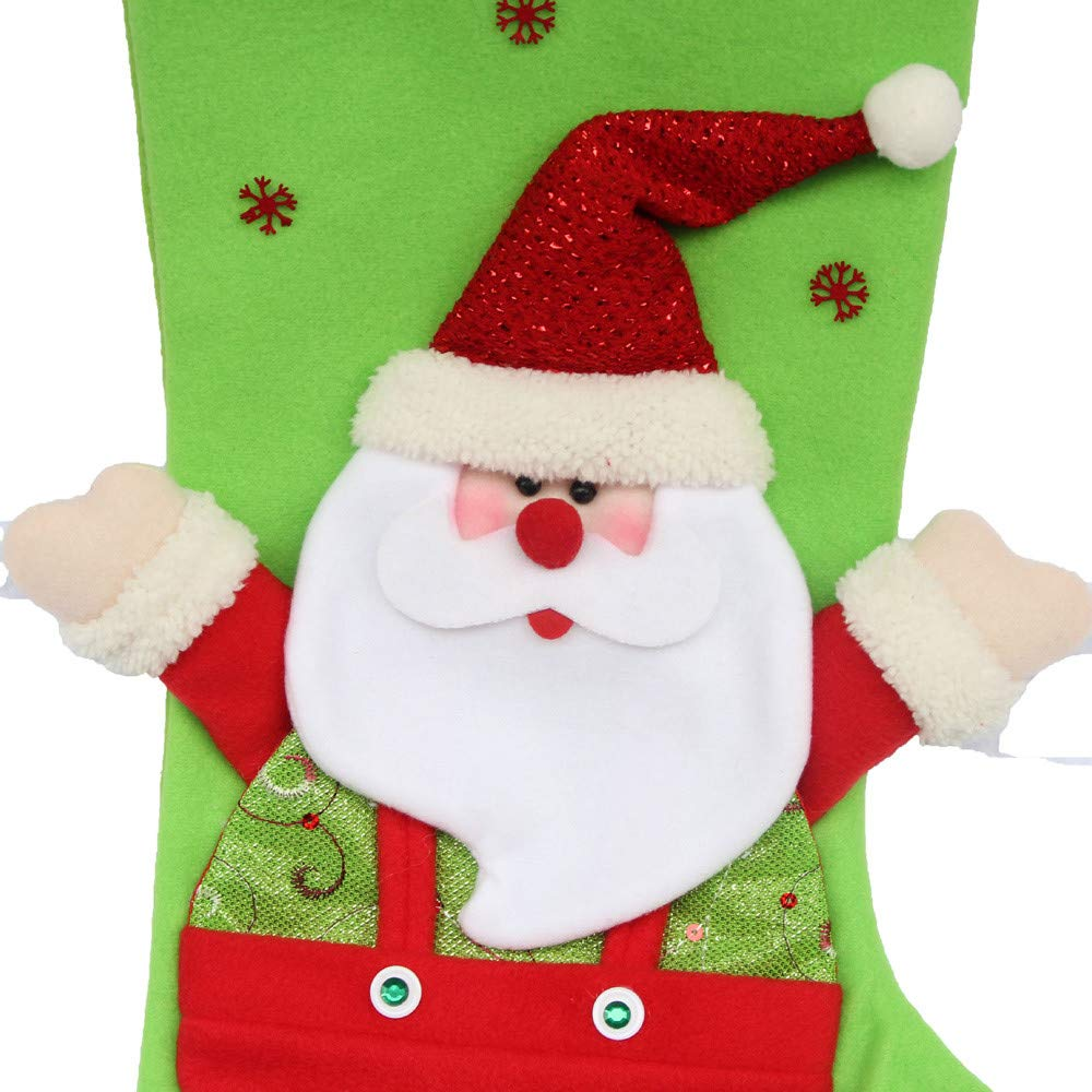 Santa Gift Socks Sack for Kids Presents Xmas Bag Christmas Decoration Stocking Hanging Ornament (A) by Paymenow (Image #2)