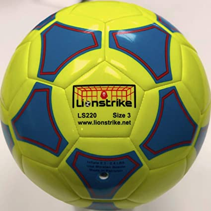 Lionstrike Balón de fútbol de Cuero Ligero, tamaño 3, Adecuado ...