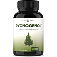 Pycnogenol Pine Bark - Premium Supplement with 200mg Herbal Complex for Circulation...