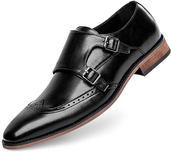 Amazon.com: GOLAIMAN - Zapatos de vestir para hombre con ...