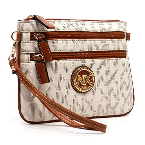 Noble Bag Ivory Multi Crossbody Zipper Signature NX Wristlet Exchange Clutch pqCYwrp