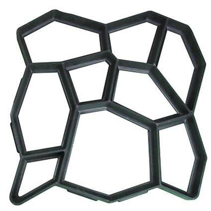 MOLDG 50 * 50cm molde de pavimentación 2 piezas de cemento de hormigón reutilizable de diseño