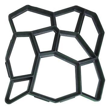 MOLDG 50 * 50cm molde de pavimentación 2 piezas de cemento de hormigón reutilizable de diseño de la piedra Paver Walk Maker Mold - patrón para pavimentar ...