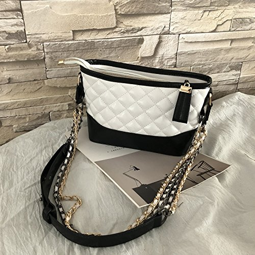 Ome Black amp; Qiumei 21 Cm Black Bias Bag Chain Shoulder Spanning 9 Female White And 17 Diamond r0rdqwU