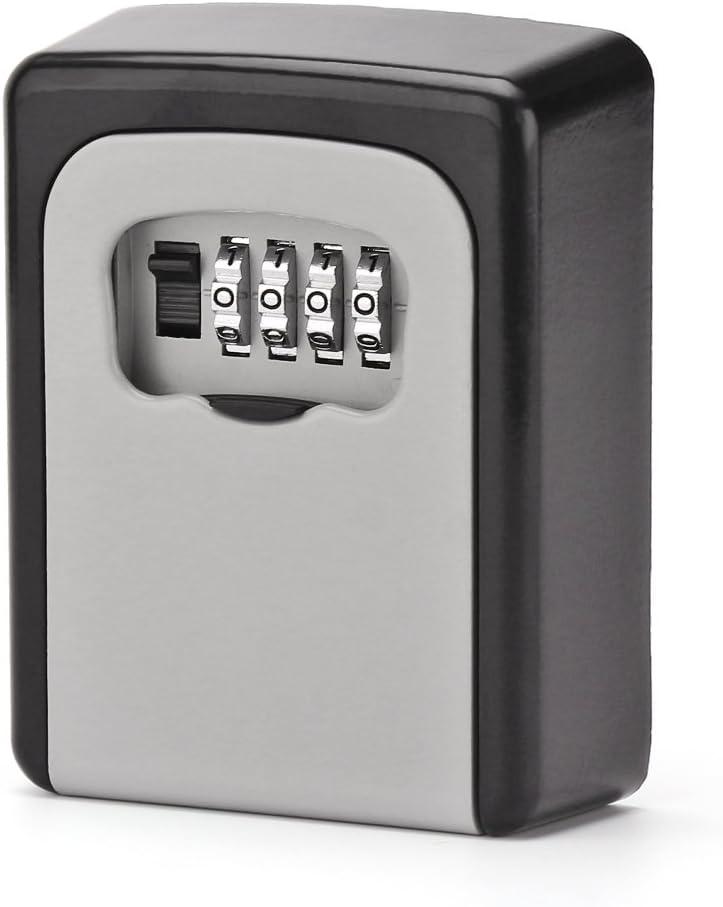 ONEVER Llave Segura Caja de Bloqueo de Teclas Llave de Combinación de 4 Dígitos Montada en la Pared Caja Segura Caja de Almacenamiento Resistente y Teclas Seguras: Amazon.es: Bricolaje y herramientas