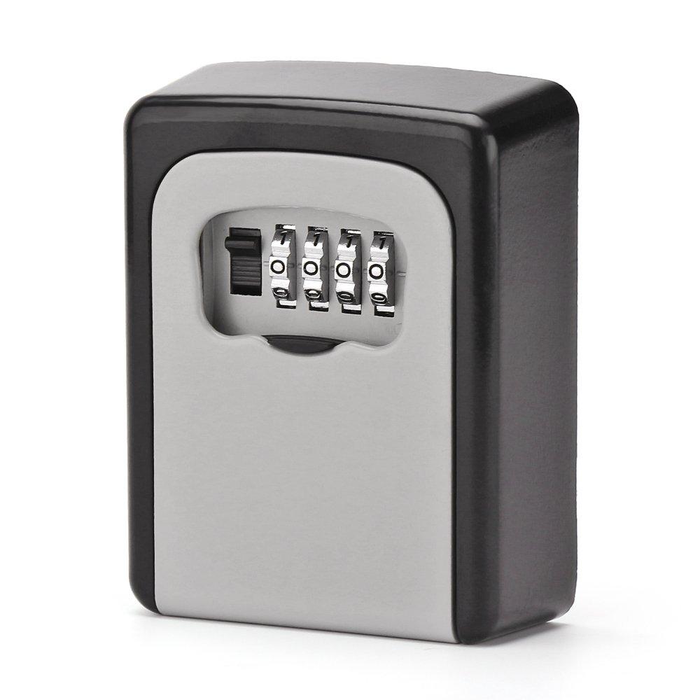 OurLeeme Cassetta di Sicurezza con Chiave, Combinazione a 4 cifre Cassetta di Sicurezza per Chiave Esterna per L'Ufficio del Garage di casa Combinazione a 4 cifre Cassetta di Sicurezza per Chiave Esterna per L' Ufficio del Garage di casa