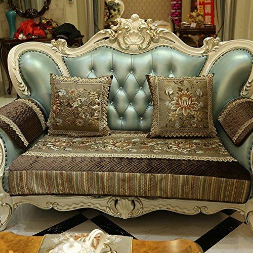 DW&HX Cojines de sofá Estilo Europeo Cuero Genuino Cojines de sofá Simple Anti-Que Patina Sofá Asiento Clásica Estilo...