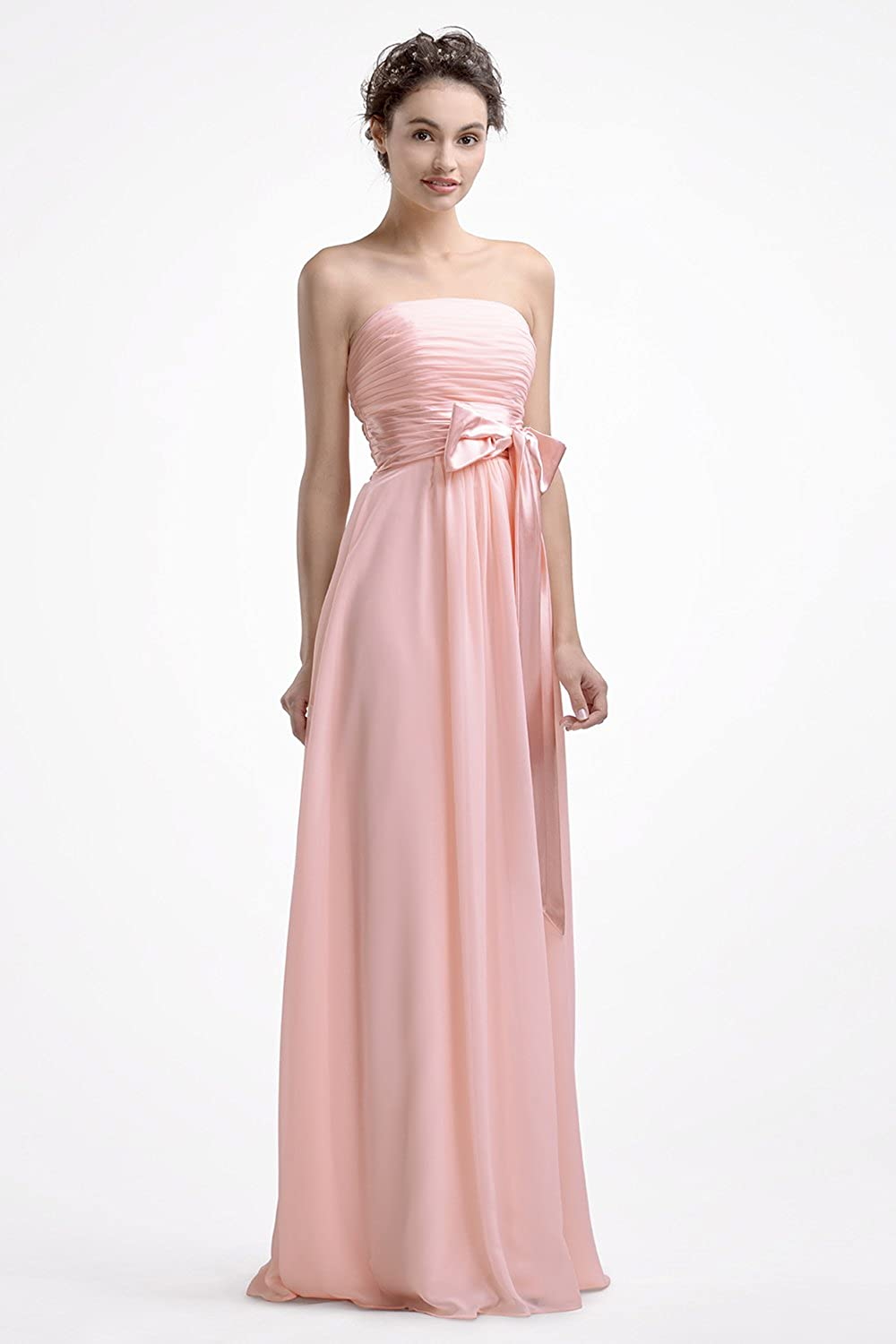 AWEI BRIDAL Bridesmaid Dress Long Evening Dresses Chiffon Designer Dresses at Amazon Womens Clothing store: