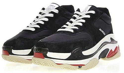 Balenciaga Triple S White Red WOGO Hombre Zapatos: Amazon.es: Zapatos y complementos