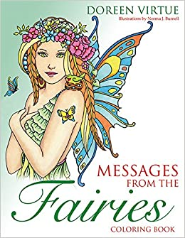 amazoncom messages from the fairies coloring book 9781401952020 doreen virtue norma j burnell books - Fairies Coloring Book