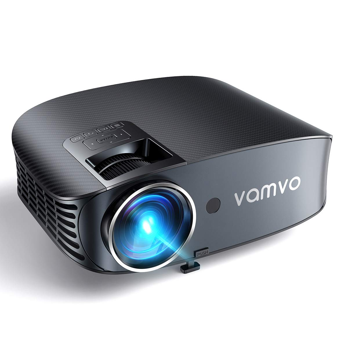 Video Projector, Outdoor Movie Projector with 200'' Projection Size, vamvo Home Theater Projector with Platform Pallet, Support 1080P, Compatible with Fire TV Stick, PS4, HDMI, VGA, AV and USB 3600L