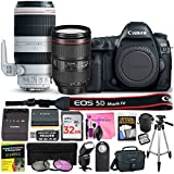 Canon EOS 5D Mark IV 30.4 MP DSLR Camera (Wi-Fi) PROFESSIONAL PHOTOGRAPHER Multi-Lens Kit with EF 24-105mm f/4L IS II USM Lens, EF 100-400mm f/4.5-5.6L IS II USM Lens & Camera Works Accessory Bundle