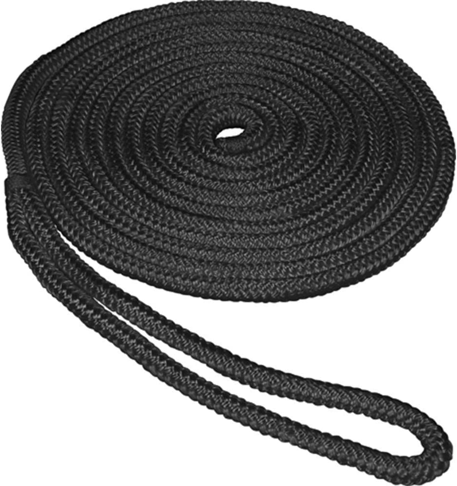 3//8 inch 1//2 inch 5//8 inch 25ft//50ft Premium Docking Lines with 12 inch Eyelet Boat Mooring Line Anchor Rope Dia Shaddock Double-Braided Nylon Dock Lines