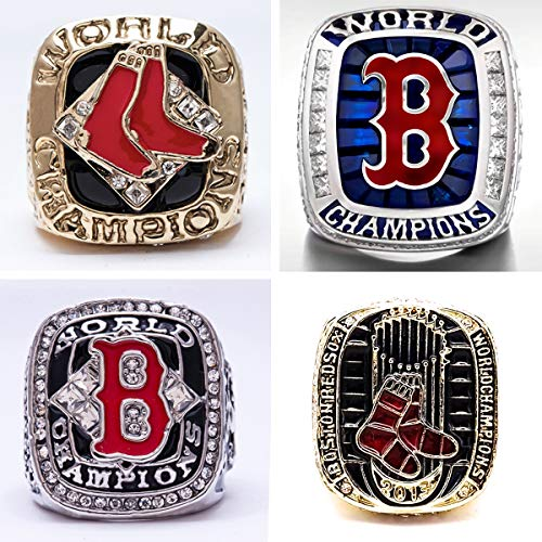 2018 World Series Ring - SBCRING Red Sox 4 Years World Series Baseball Championship Rings Set 2004 2007 2013 2018 (4 Years Size 11, Boston)