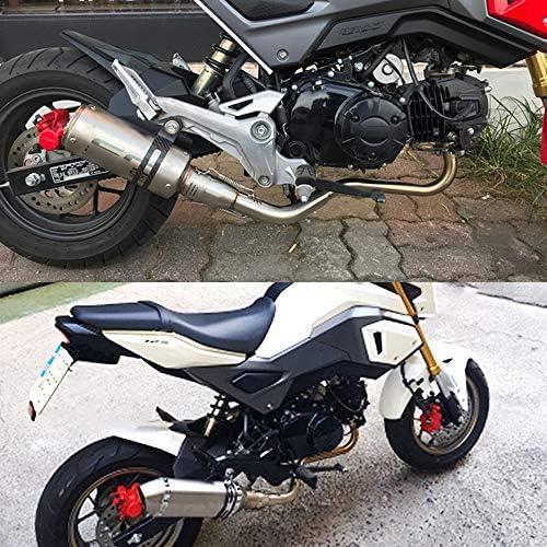 Jfg Racing Abgaskrümmer Vorderes Rohr Niedrig Montiert Zum Aufstecken Motorrad Auspuffsystem Für Honda Grom Msx125 Msx 125 2013 2018 Auto