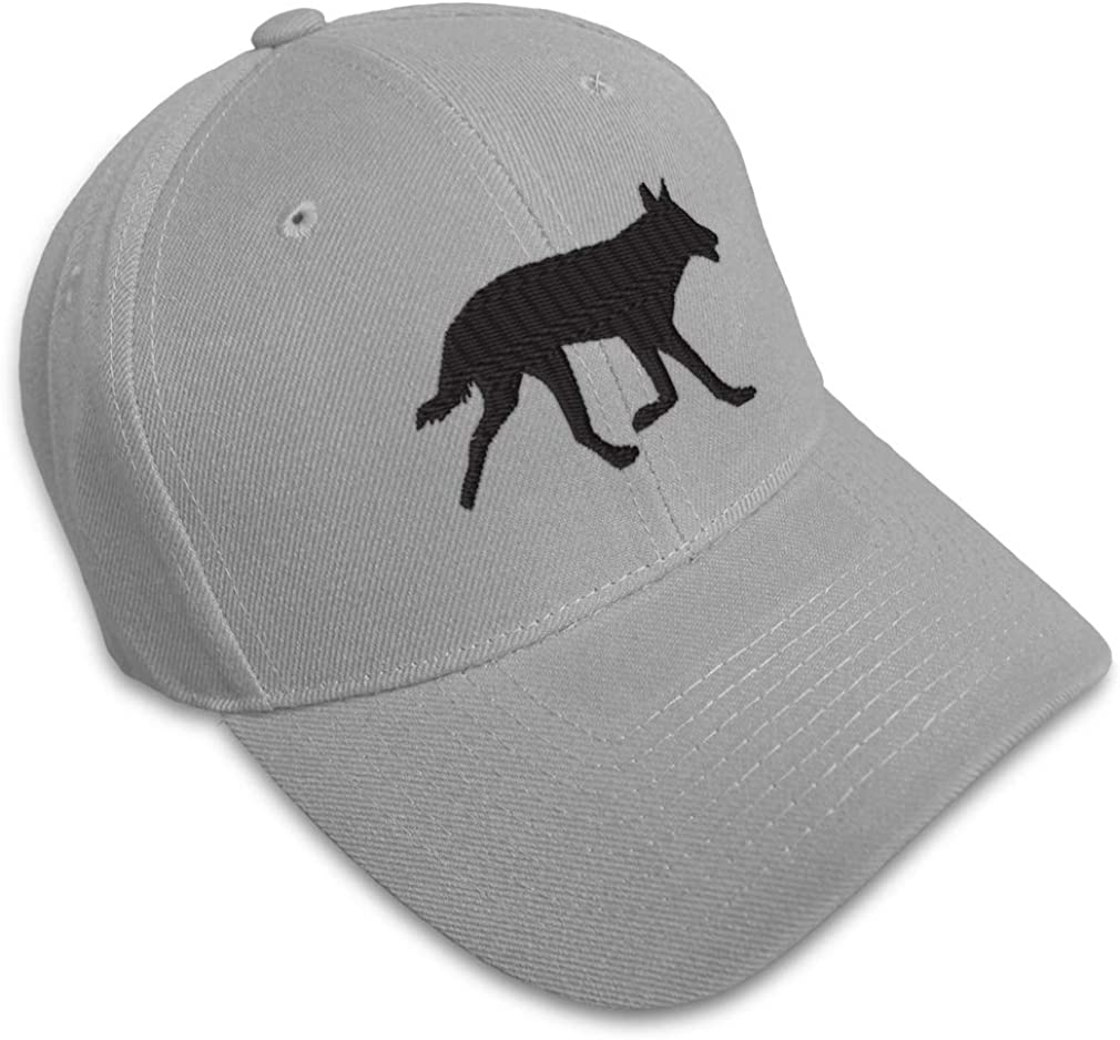 Custom Baseball Cap Black Dingo Embroidery Acrylic Dad Hats for Men /& Women