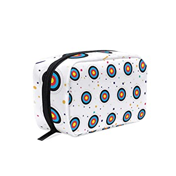 62ca41ae67 Amazon.com   Archery Target Cosmetic Bags Organizer- Travel Makeup Pouch  Ladies Toiletry Case for Women Girls