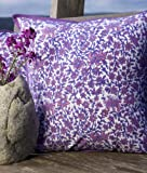 Amethyst Amore - Purple Floral Bohemian Hand Block-printed Decorative Designer French Country Throw Pillow Cover