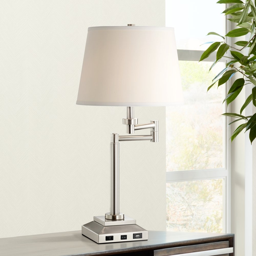 Camber workstation desk lamp with outlet and usb port amazon geotapseo Images