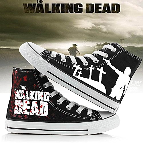 The Walking Dead Schuhe Canvas Schuhe Turnschuhe 2 Styles Schwarz 2