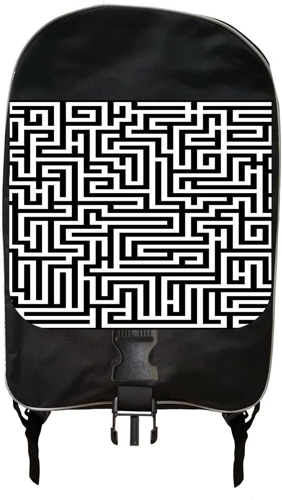 Labyrinth Print Design Backpack and Pencil Case Set