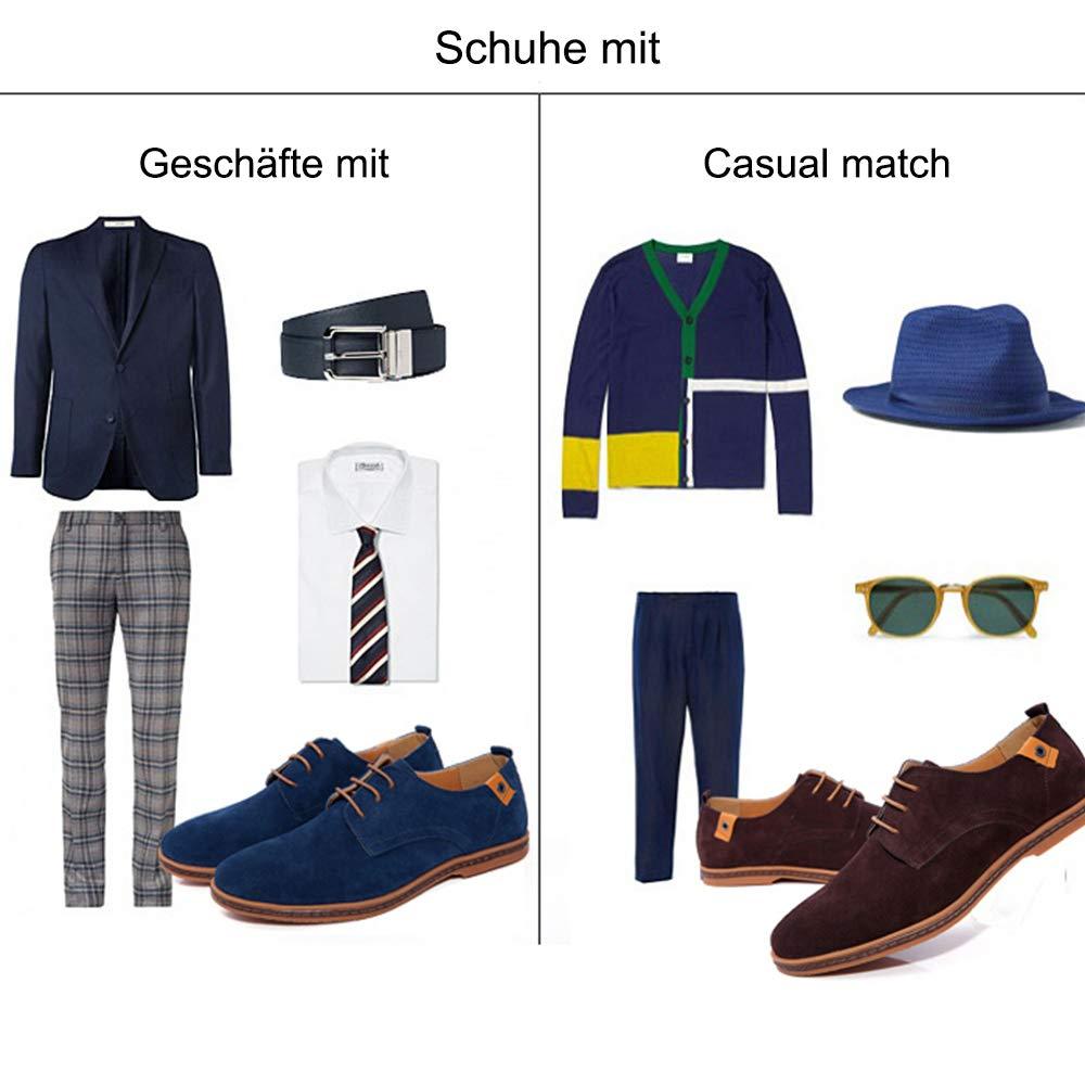 CAGAYA Herren Freizeit Schuhe aus Leder Business Anzugschuhe Atmungsaktiv Lederschuhe Oxford Halbschuhe Party Hochzeit /übergr/ö/ßen 38-46