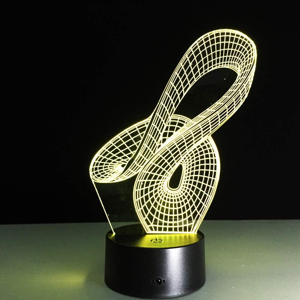 wangZJ Lámpara de ilusión 3d / Lámpara de mesa con ...