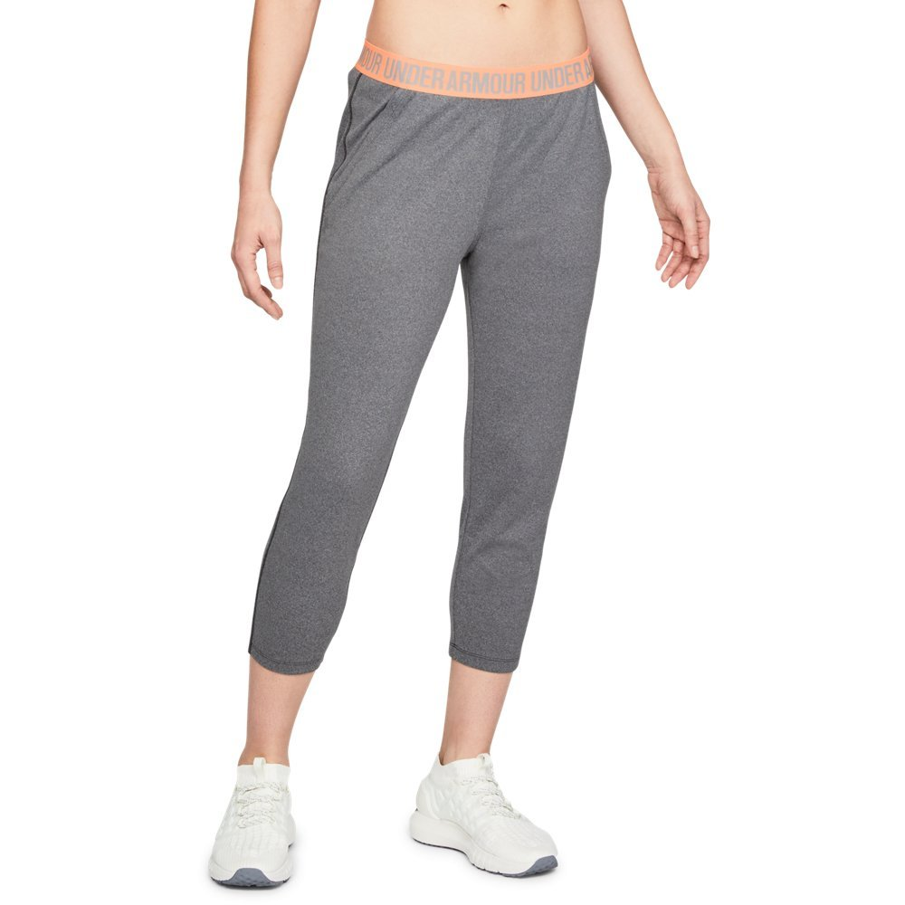 Under Armour Women's Play Up Capris, Charcoal Light Heath (019)/Metallic Silver, X-Small