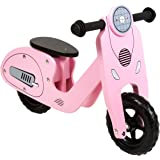 Charles Bentley Wooden Vespa Scooter Balance Bike Age 3+ - Pink