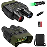 Coolife Night Vision Goggles, Night Vision Binoculars IR with Video and Photo, Night Vision with Flashlight, 32GB MicroSD Car