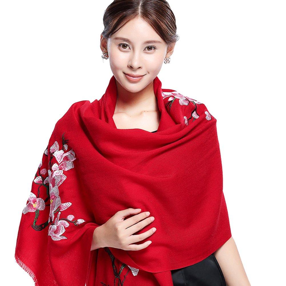 Ethnic embroidered scarf wedding dress shawl dual-use super long scarf-B One Size