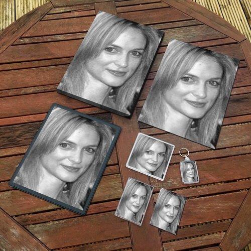 Heather Graham - Original Art Gift Set #js007 (Includes - A4 Canvas - A4 Print - Coaster - Fridge Magnet - Keyring - Mouse Mat - Sketch Card)