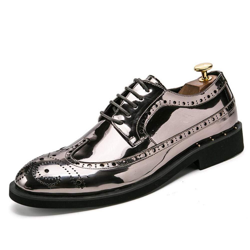 FuweiEncore Herrenschuhe, Leder Frühling Herbst Spitz Schuhe, Vintage Schuhe, Lace-up für Hochzeit Büro & Karriere Party & Abend, (Farbe   C, Größe   42) (Farbe   C, Größe   38)