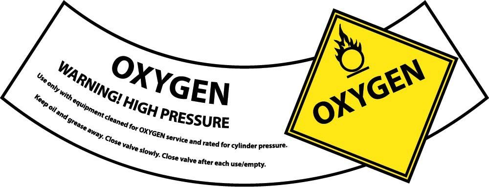 CY106AP National Marker Oxygen Cylinder Shoulder Label (Pack of 25)