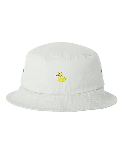 05a59e0740b Amazon.com  One Size Black Adult Yellow Duck Embroidered Bucket Cap Dad Hat   Clothing