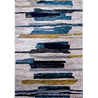 DOLDOA Area Rug,Modern and Vintage Unique Design Multi Area Rug Carpet for Living Room,Bedroom,Playroom,Dinning Room (5.3 x 7.5, Vienna - 034209)
